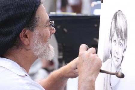 艺术家, 弗洛伦斯, 铅笔, 意大利