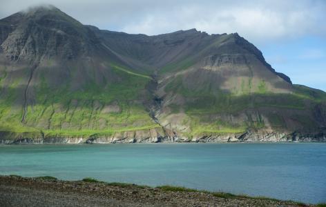 冰岛, 峡湾, 悬崖, 自然, 山, 景观, 风景