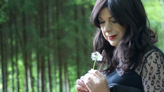 白雪公主, 森林, 花, 紧身胸衣, 树木, 森林花, 植物