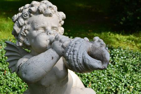 天使, 雕塑, 饰品, 建筑