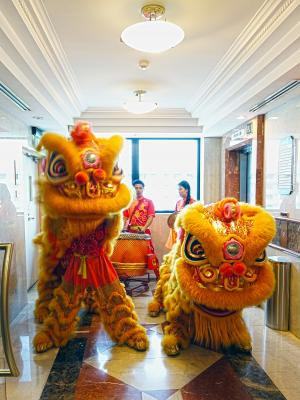 狮舞, 中文, 传统, 新的一年, 运气, 跳舞, 亚洲