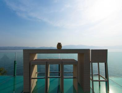 白椅, 大理, 洱海, 咖啡厅, 阳台, 视图, 早上