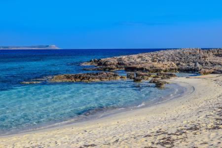 塞浦路斯, 阿依纳帕, makronissos 海滩, 沙子, 海, 度假村, 旅游