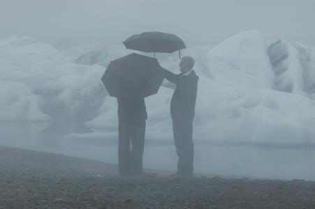 冰岛, 雨, 心情, 自然, 冰川, 景观, 冰川湖