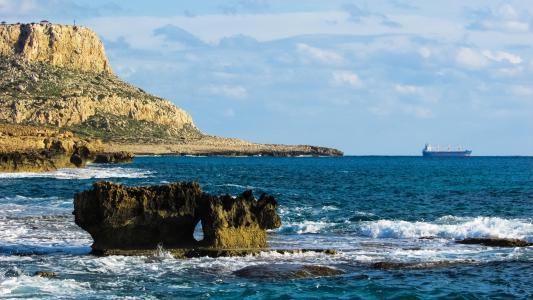 塞浦路斯, 卡沃 greko, 岩石, 海角, 海岸线