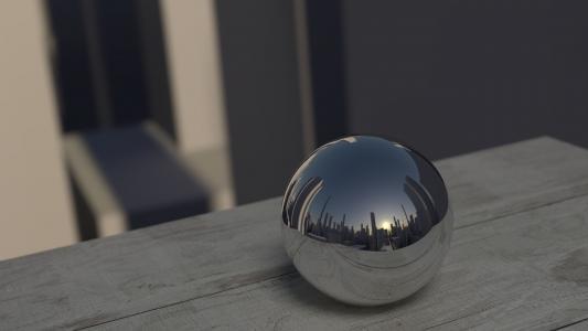 镜像, 球, 反思, 镜子, 关于, 反射, 几点思考