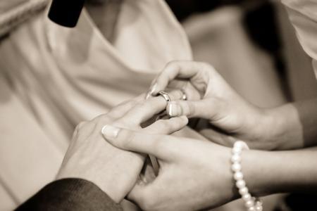 婚礼, 结婚戒指, 人类的手, 人, 妇女, 新娘