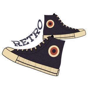 复古, 鞋类, 年份, 时尚, 老, 鞋子, 风格