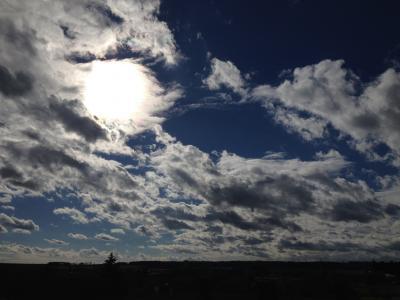 太阳, 云彩, 天空, 自然, 暮光之城, 回光, 天气