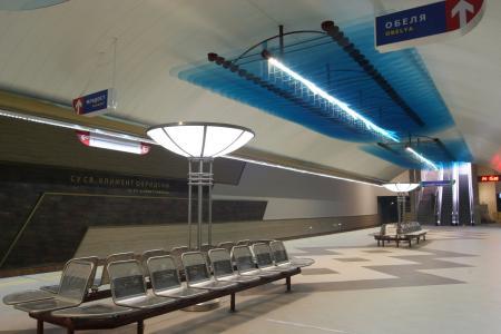 保加利亚, 地铁, 车站, 走道, 长椅, 运输, 车厂