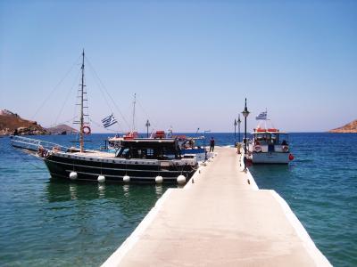 端口, 浮桥, 海, 小船, 假日, 蓝色, 平静