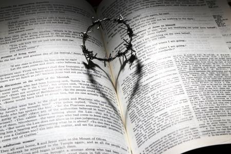 爱, 死, 十字架, 荆棘, 皇冠, 心, 圣经 》
