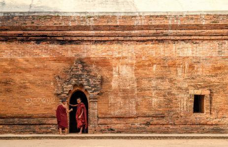 和尚儿童缅甸