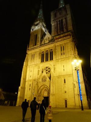 大教堂, 晚上, 灯, 欧洲, 历史, 建筑, 著名的地方