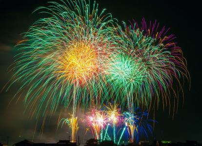 烟花, 光, 日本, 节日, 天空, 美丽, 庆祝活动