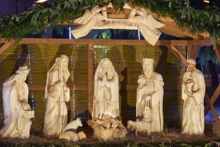 圣诞节, 诞生场面, 雕刻, 木材, 圣诞老人, 三国王, 选定