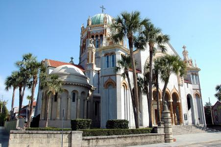 教会, 大教堂, 圣奥古斯汀, 佛罗里达州, 尖塔, 历史, 具有里程碑意义