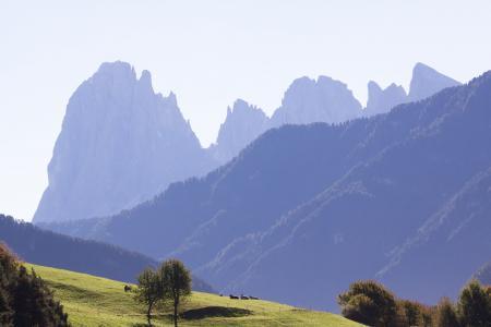 白云岩, 意大利, 南蒂罗尔, 景观, sassolungo, 山, 高山