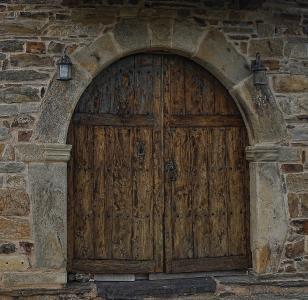 双门, 裸木, 入口, 退出, 牌楼, 拱, 建设
