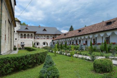 修道院, negru 搜索, campulung, 罗马尼亚, 里面, 法院