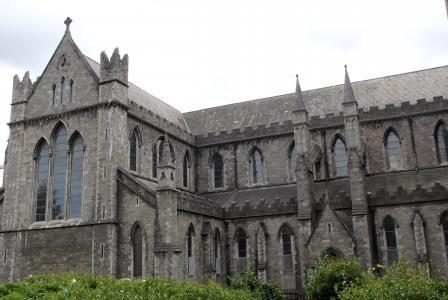 克莱斯特彻奇, 都柏林, 爱尔兰, 大教堂, 建筑, 哥特式, 砖