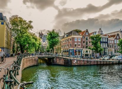 阿姆斯特丹, 荷兰, 运河, 河, 荷兰, 水, 荷兰语