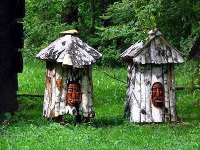 乌勒, 雕塑, 蜜蜂, pasieka, 分布效果, 养蜂, 蜂蜜