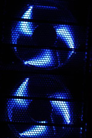 风扇, pc, 风机外壳, edp, 计算机, 两个, 蓝色