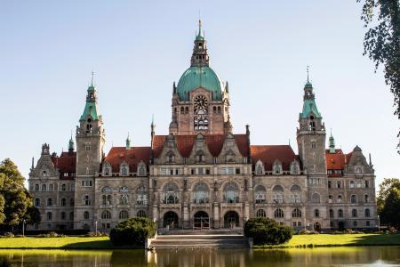 汉诺威, 市政厅, 德国, 具有里程碑意义, 建筑, 建设, 汉诺威