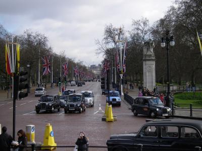 伦敦, 黑色, 出租车, 街道, 道路, 林荫大道, 运输