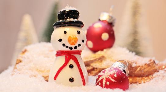 小雪人, 雪, 冬天, 白色, 寒冷, eismann, 感冒