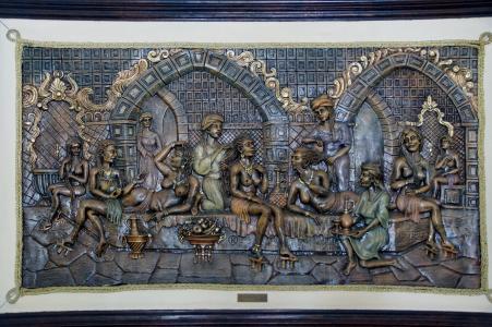 图像, 雕塑, 浴, 土耳其浴