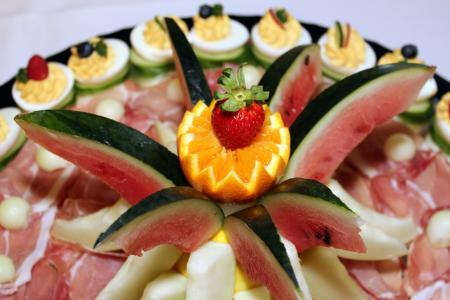 自助餐, 凉的自助餐, 美味, 丰盛, 食品, 受益于, 顿饭