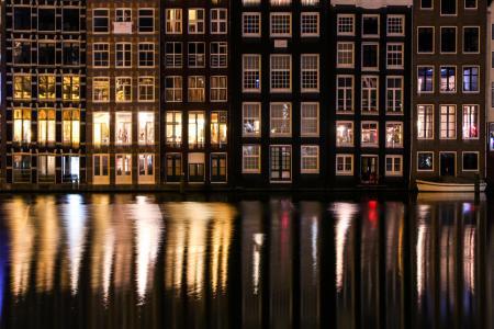 阿姆斯特丹, 运河, 荷兰, 荷兰语, 建设, 欧洲, 旅行