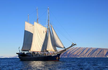 帆船, 船舶, 帆船, 格陵兰岛, 小船