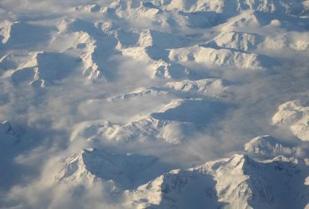 山, snow-capped, 加拿大, 高峰, 雪, 范围, 冬天