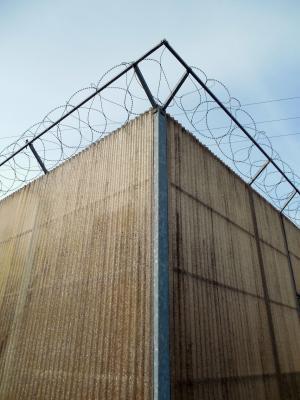 带刺的铁丝网, 确定, 安全, 电线, 限制, 栅栏, 分界