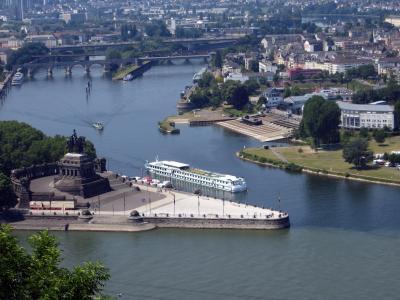 科布伦茨, 德国的角落, 摩泽尔, 莱茵河, 纪念碑, 德皇威廉纪念碑, 具有里程碑意义