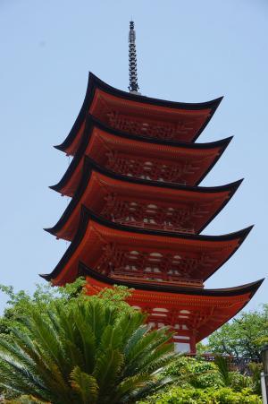 日本, 广岛, 宫岛, 五故事塔, 塔