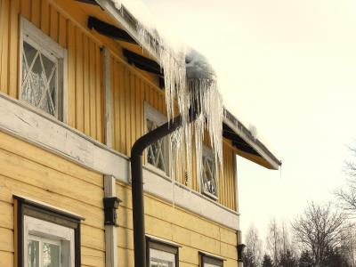冰柱, 冰, 房子, 冬天, 雪, 弗罗斯特, 水