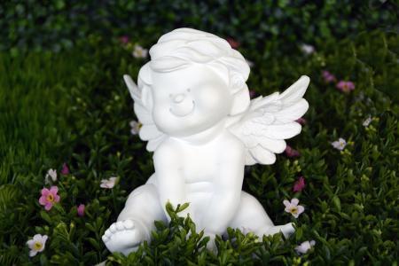 天使, 守护天使, 翼, 满意, 微笑, 快乐, 快乐