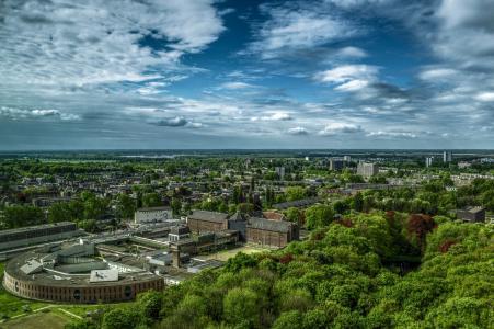 格罗宁根, 城市, 视图, 城市景观, 全景, 荷兰