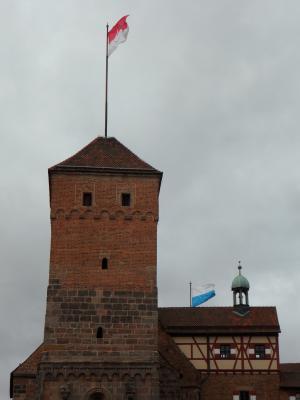 城堡, 皇家城堡, 纽伦堡, 城堡塔, 塔, 骄傲, 旗帜