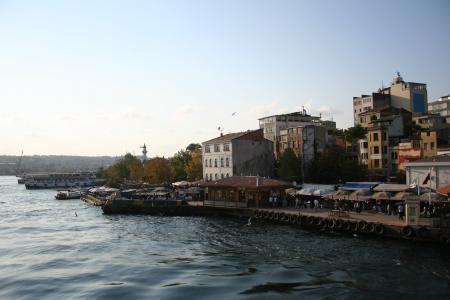 土耳其, 伊斯坦堡, 米诺, 景观, 博斯普鲁斯海峡