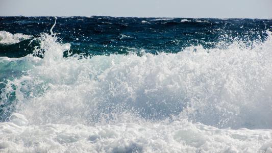 波, 粉碎, 海, 海滩, 自然, 喷雾, 泡沫