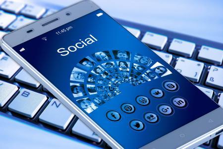 移动电话, 智能手机, 键盘, 应用程序, 互联网, 网络, 社会