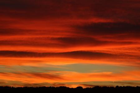 日落, 余辉, 天空, 云彩, abendstimmung, 暮光之城, 傍晚的天空