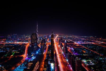 建筑, 建筑, 城市, 城市景观, 市中心, 照明, 灯