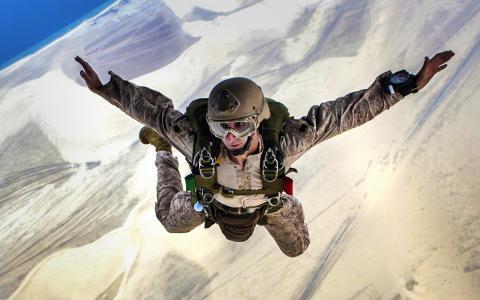 跳伞, 跳转, 下降, 跳伞, 军事, 培训, 高