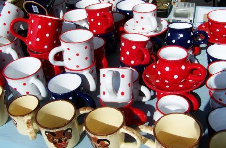 杯子, 波尔卡圆点, 陶瓷
